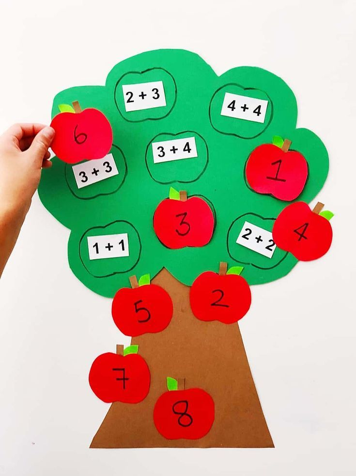 Easily and simple create a fun fall learning tool for your kids with this cute apple math tree learning activity! Perfect for addition lessons! Montessori Activities, Preschool Learning, Early Learning, Teaching Math, Preschool Activities, Kids Learning, Math For Kindergarten, Apple Activities, Creative Activities
