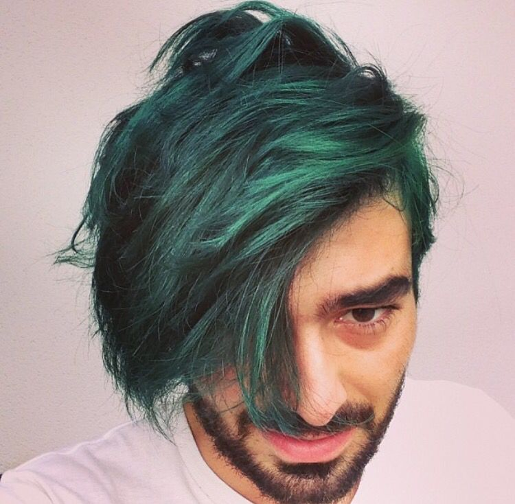 Green Hairstyle Men Men Hair Color Hair Styles Hairstyle