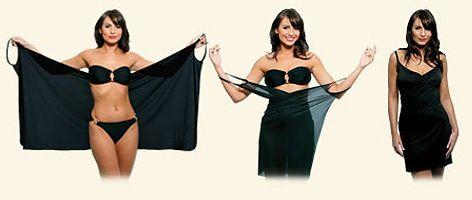 Bikini wrap dress