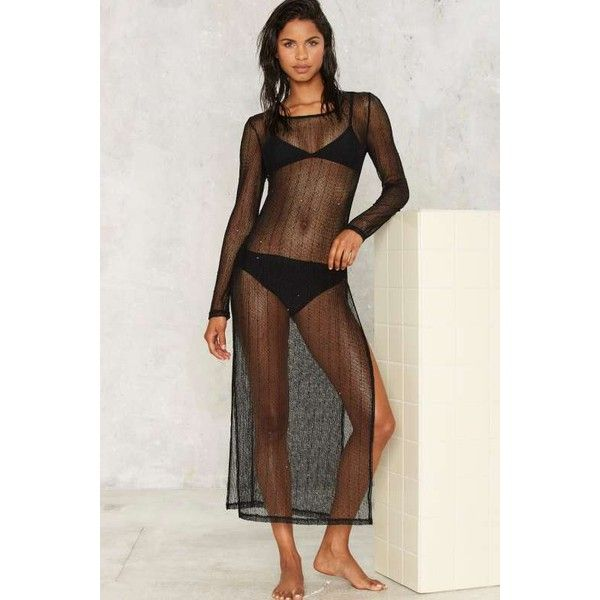 becbe728daa3f Mira Knit Cover-Up (330 ZAR) ❤ liked on Polyvore featuring swimwear ...