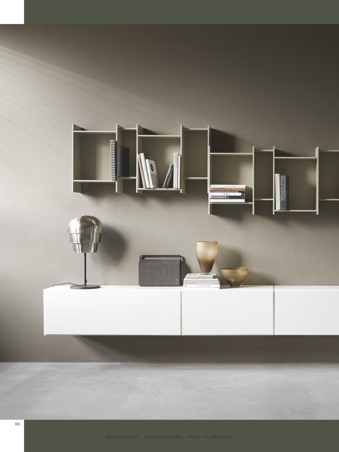 Gray and nude living room I Rooms by BoConcept - BoConcept