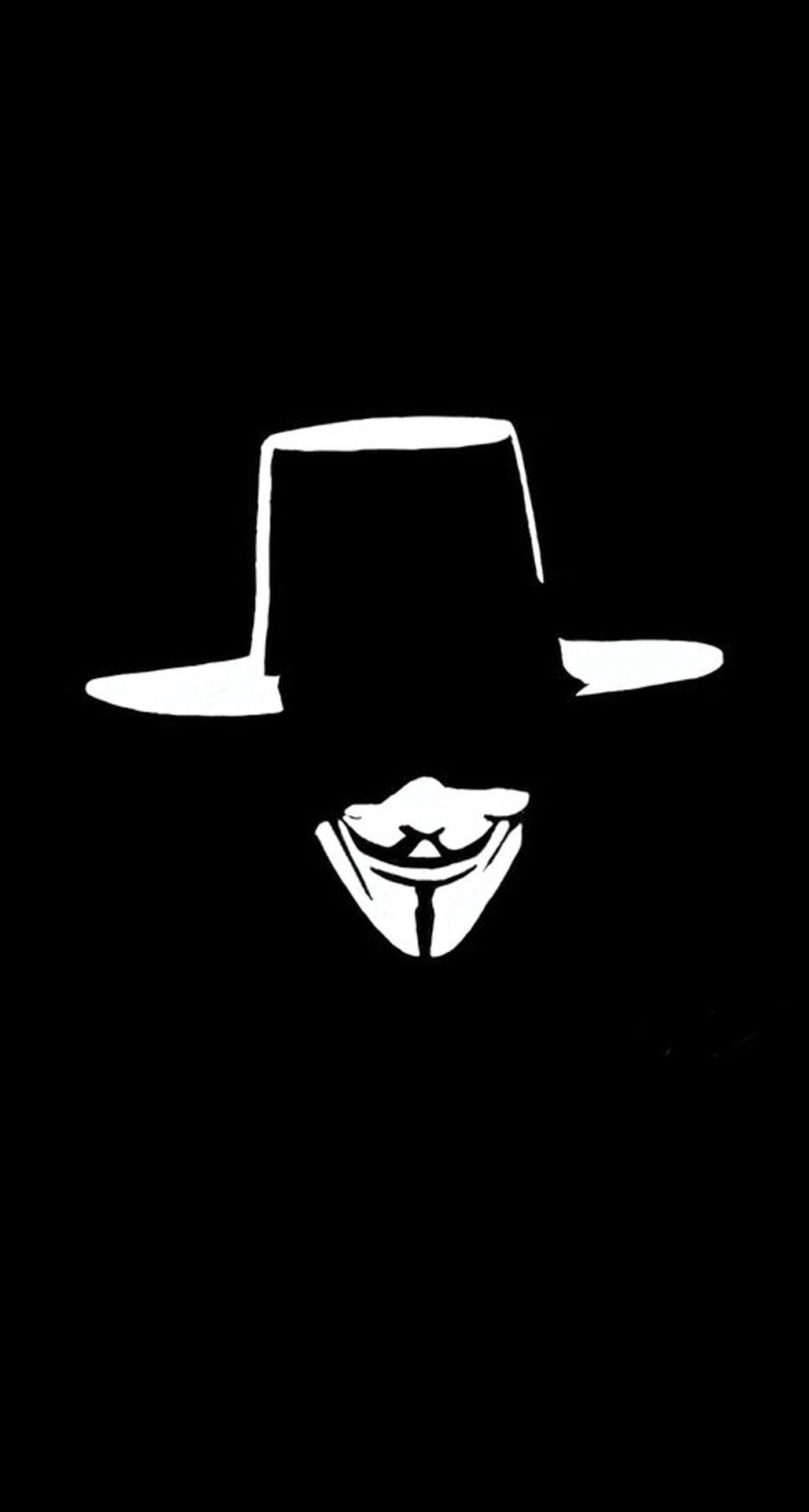 V For Vendetta Hat Face Illustration IPhone 6 Plus HD Wallpaper