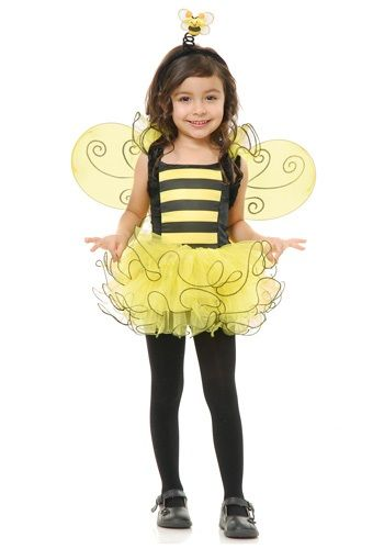 Minnie Mouse Fairy Costume Set Bumble Bee Wings Tutu Girls Fancy Dress Wand 4 Pc