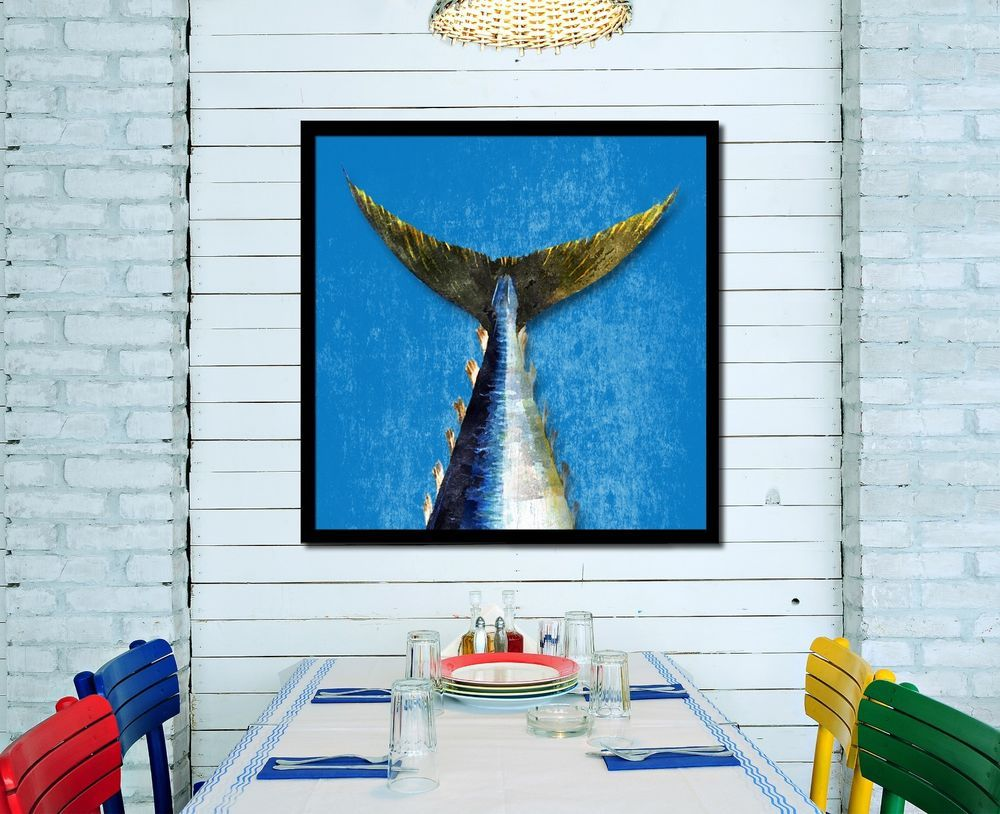 Bluefin Tuna Fish Wall Art Gift Ideas 14721 Office Home Decor Picture  Frames #SpotColorArt #VintageRustic
