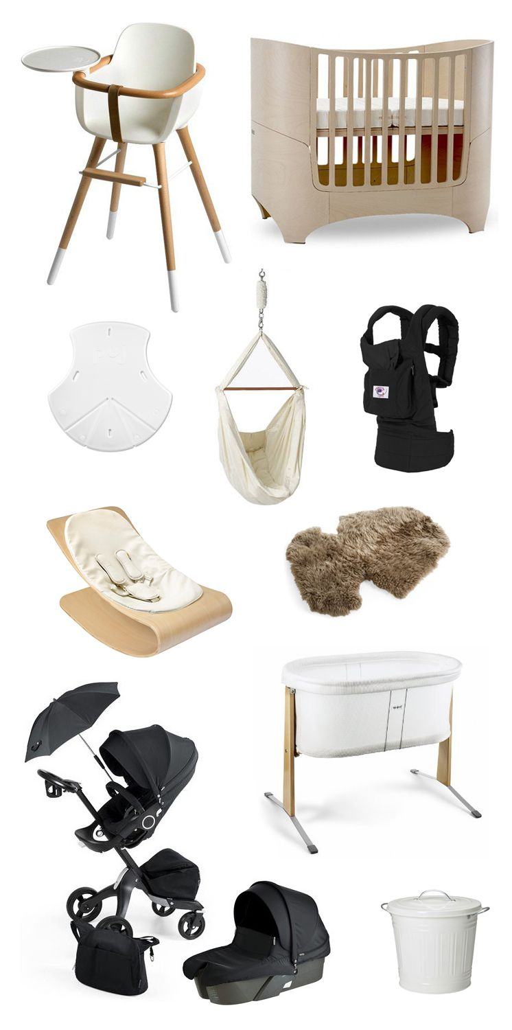 Minimalist Baby Gear 1. Ova Highchair 2. Leander Convertible Crib 3. Puj  Soft