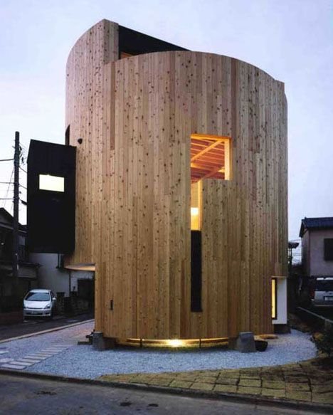 Home In The Round: Curved & Corner-Free Cylinder House