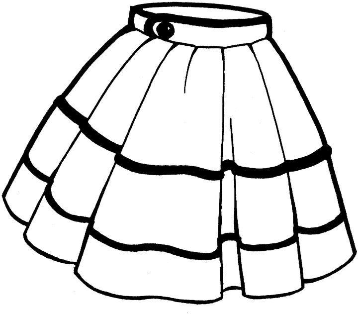 Desenhos Para Colorir De Roupas Femininas Saia Blusa Sapato