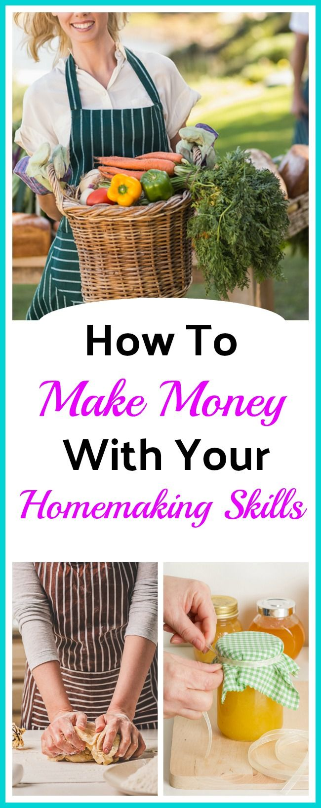 How To Make Money With Your Homemaking Skills - By getting creative you can earn money with the same homemaking skills you use every day to care for your home and family! Frugal living - Ways to make money - Living on a Budget - Homemaker Tips