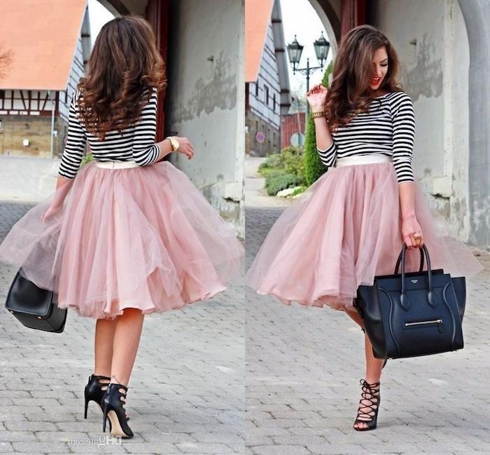 competitive price 1bf07 2fdd2 tutu rock damen rosa rock schwarz weiße bluse schwarze ...