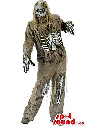 real looking scary zombie walking dead halloween mascot spotsound us niftywarehousecom niftywarehouse zombie horror zombies halloween