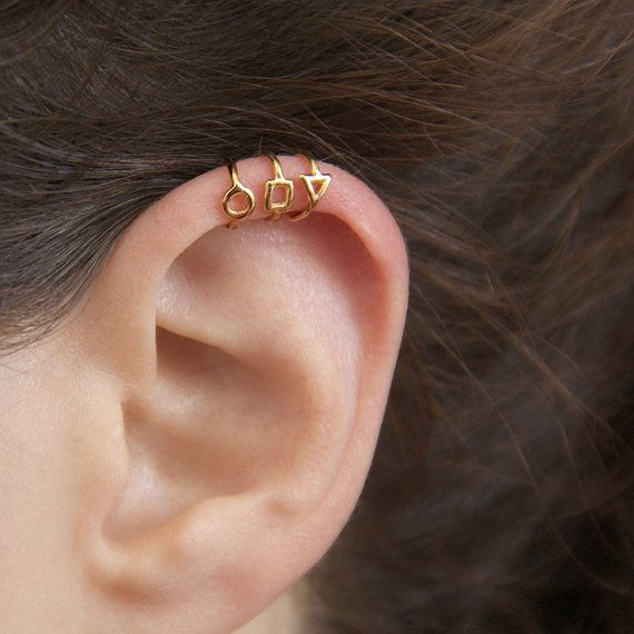V Ear Clip No Piercing Hoop Earrings Minimalism Earrings. Cartilage Ear Cuff Dainty Cartilage Hoop Cartilage Earrings Tragus Earrings