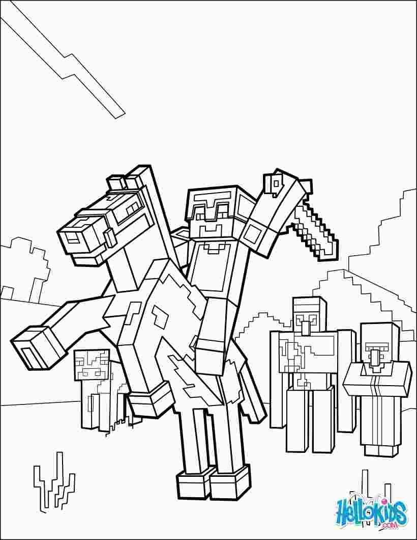 Minecraft Horse Coloring Pages With Images Minecraft Coloring