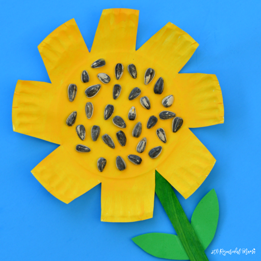 Paper Plate Sunflower Craft - The Resourceful Mama