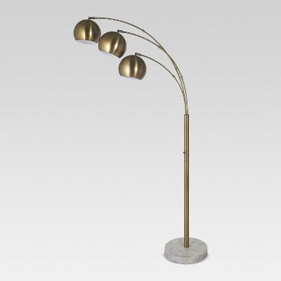 Span 3 Head Metal Globe Floor Lamp Brass Project 62
