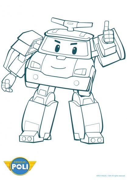 Coloriage robocar poli poli 3 robocar poli robocar poli coloring sheets et cars - Coloriage robot car polly ...