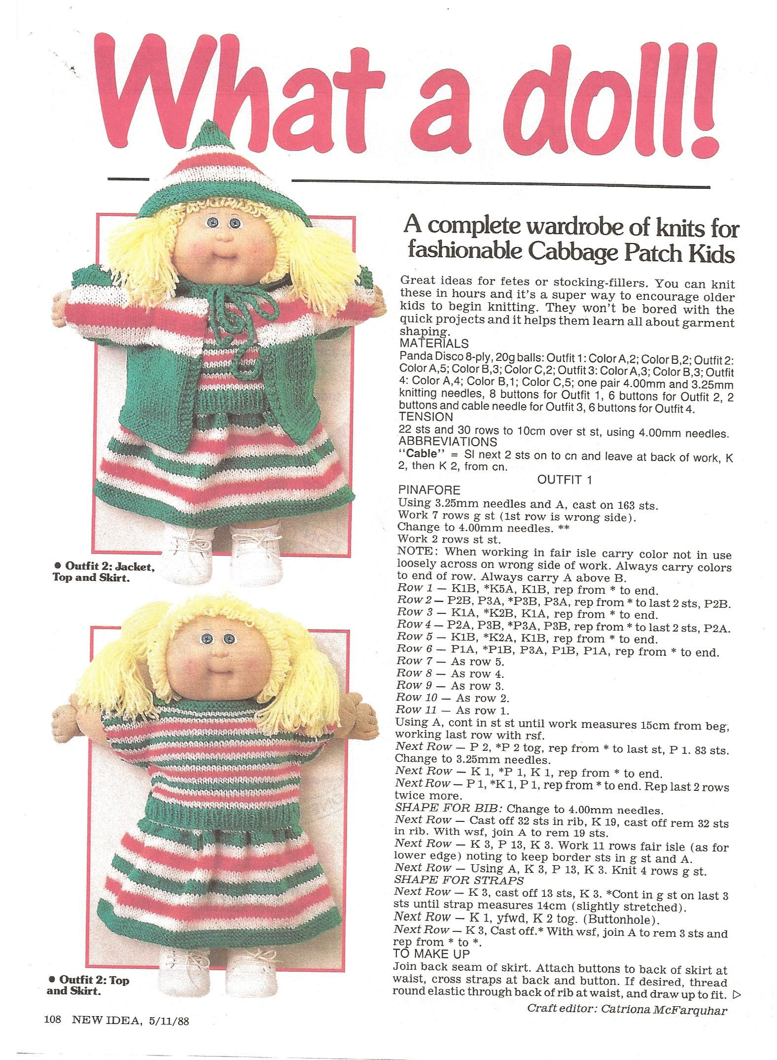 Free pdf knitting pattern for a whole wardrobe of clothes for free pdf knitting pattern for a whole wardrobe of clothes for cabbage patch dolls enjoy dt1010fo