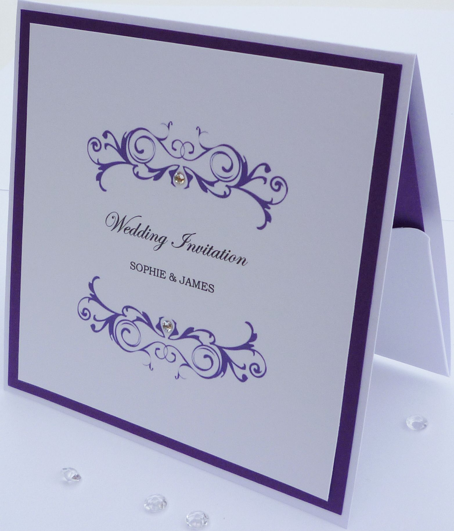 Luxury Pocketfold Wedding Invitation Handmade By Beckybydesign Co