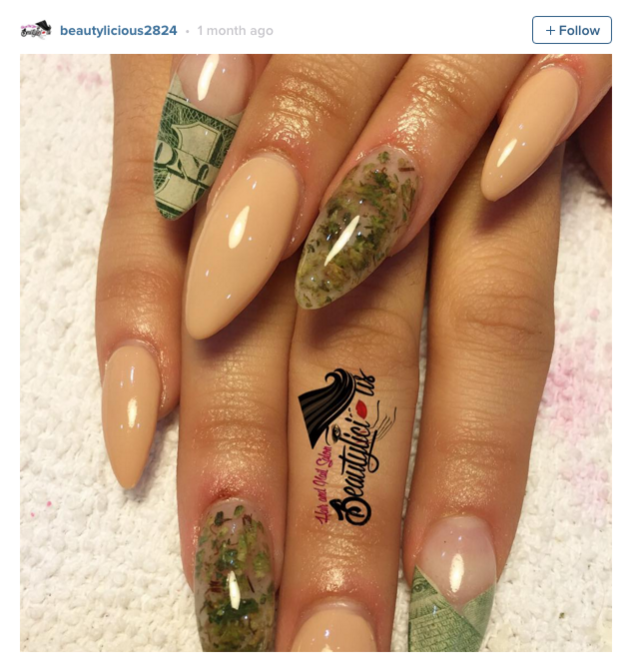 People Are Using Actual Pot To Get These Amazing Weed Manicures ...