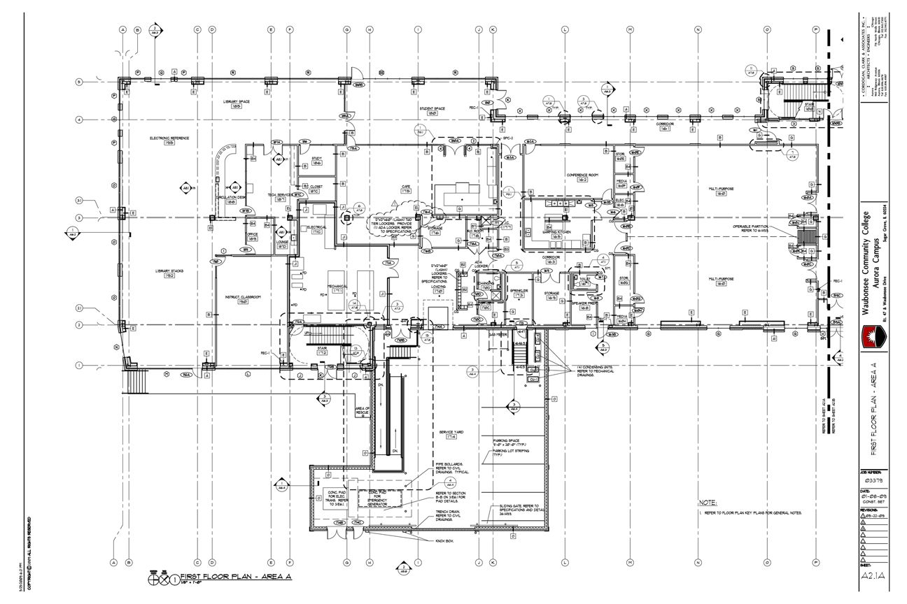 Floor plan construction drawing example construction for Drawing house floor plans