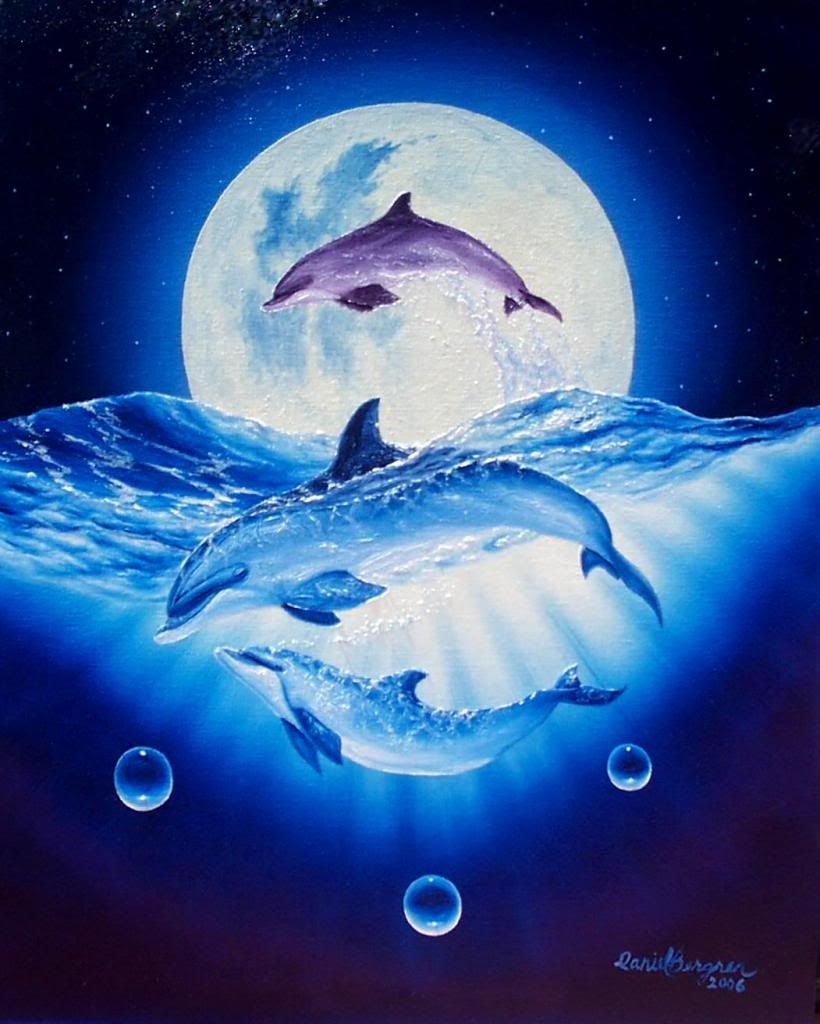 Dolphins in the moonlight   ~*~Luna~*~   Pinterest   Delfines