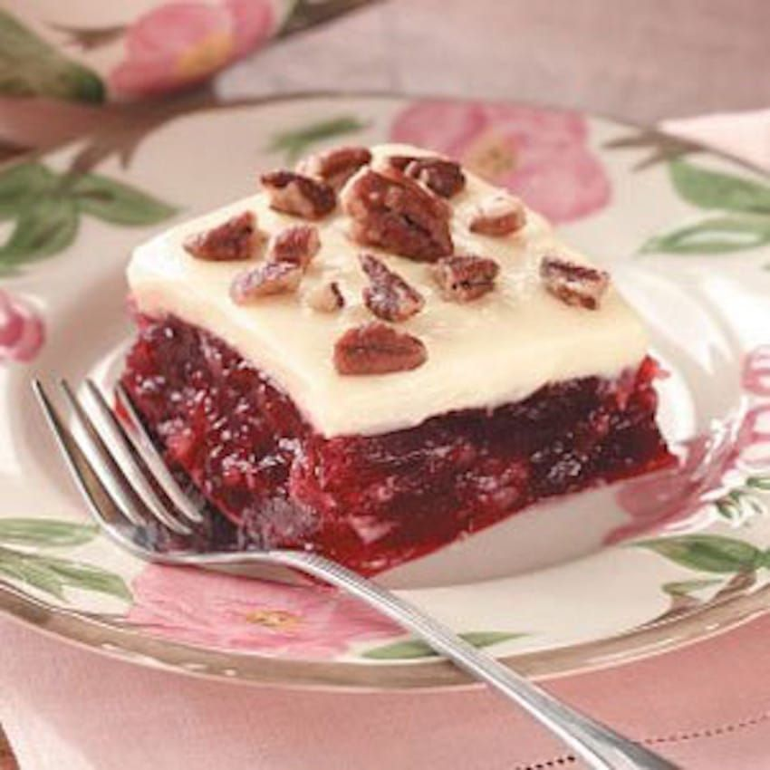 1. Frosted Cranberry Squares