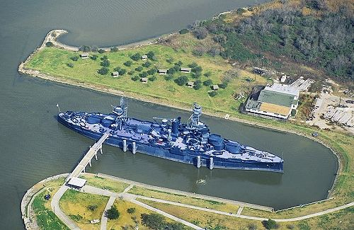 Airphoto aerial photo of battleship uss texas bb 35 for Texas la porte
