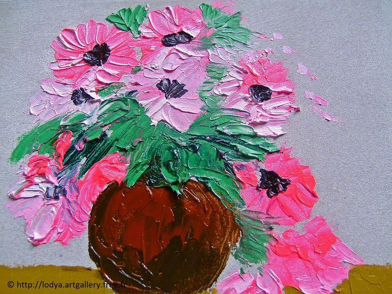 Oil Painting - Le Vase De Fleurs | Flowers | Pinterest | Vase De