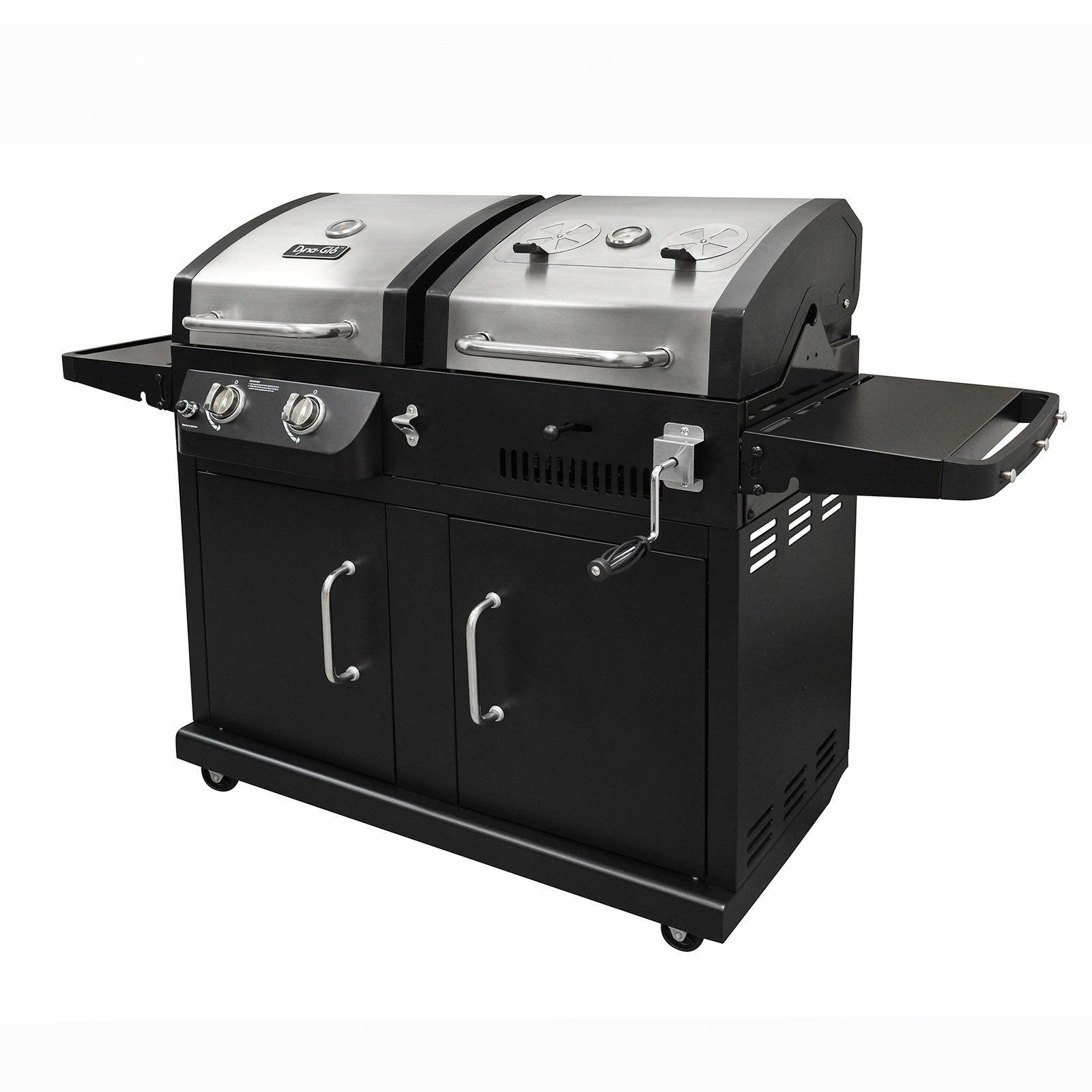Dyna Glo Dgb730snb D 2 Burner Stainless Steel Gas And Charcoal Bbq Grill From Hayneedle Com Gas Charcoal Bbq Charcoal Bbq Grill Gas Charcoal Grill