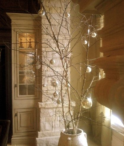 No Xmas Tree No Problem Place A Heavy Sturdy Tree Branch Or Two In A Urn Or Heavy Ta Minimalist Christmas Christmas Tree Design Christmas Tree Branches