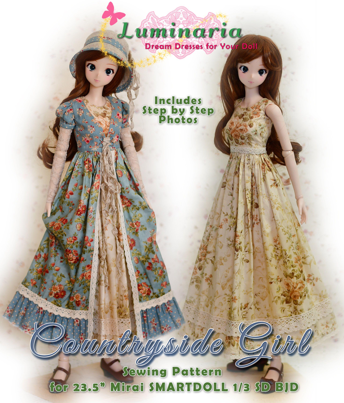 Bjd Doll Clothes Pattern Fits 23 5 Mirai Smartdoll 1 3 Etsy In 2021 Doll Clothes Patterns Clothes Sewing Patterns Clothing Patterns
