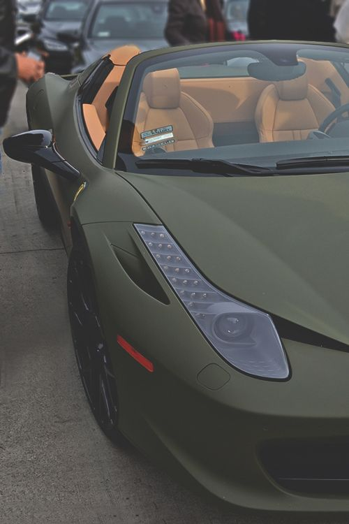 johnny-escobar:  Matte Military Green 458 Spyder