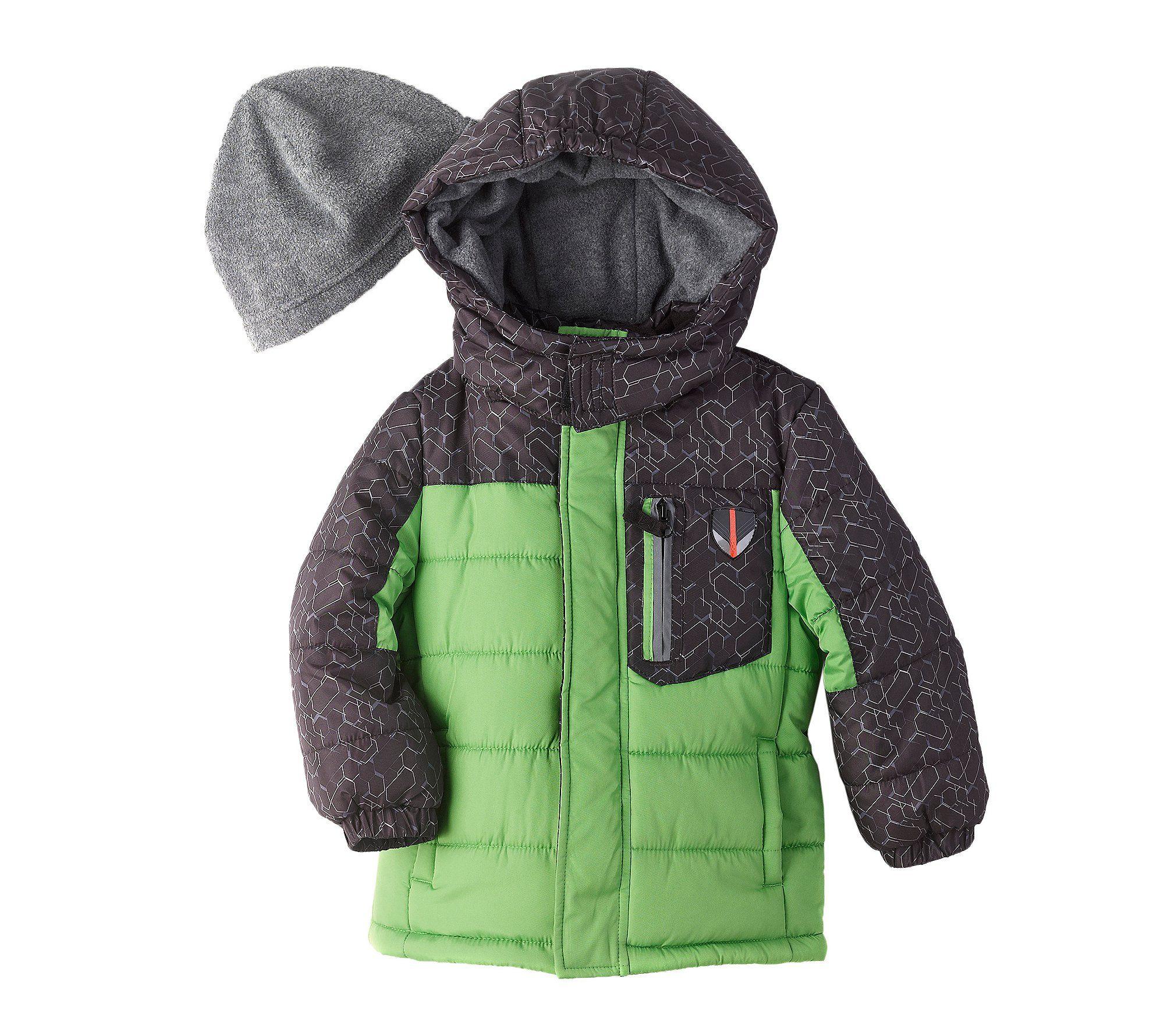 London Fog Boys Hooded Pieced Puffer Jacket