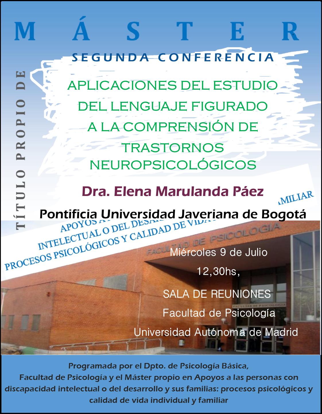 Conferencia Elena Marulanda Universidad Javeriana Actividades Comprensión