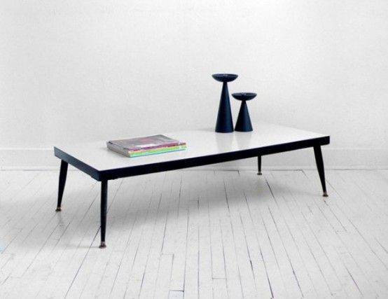 44 Inspiring Mid Century Modern Coffee Tables With Black White Table And