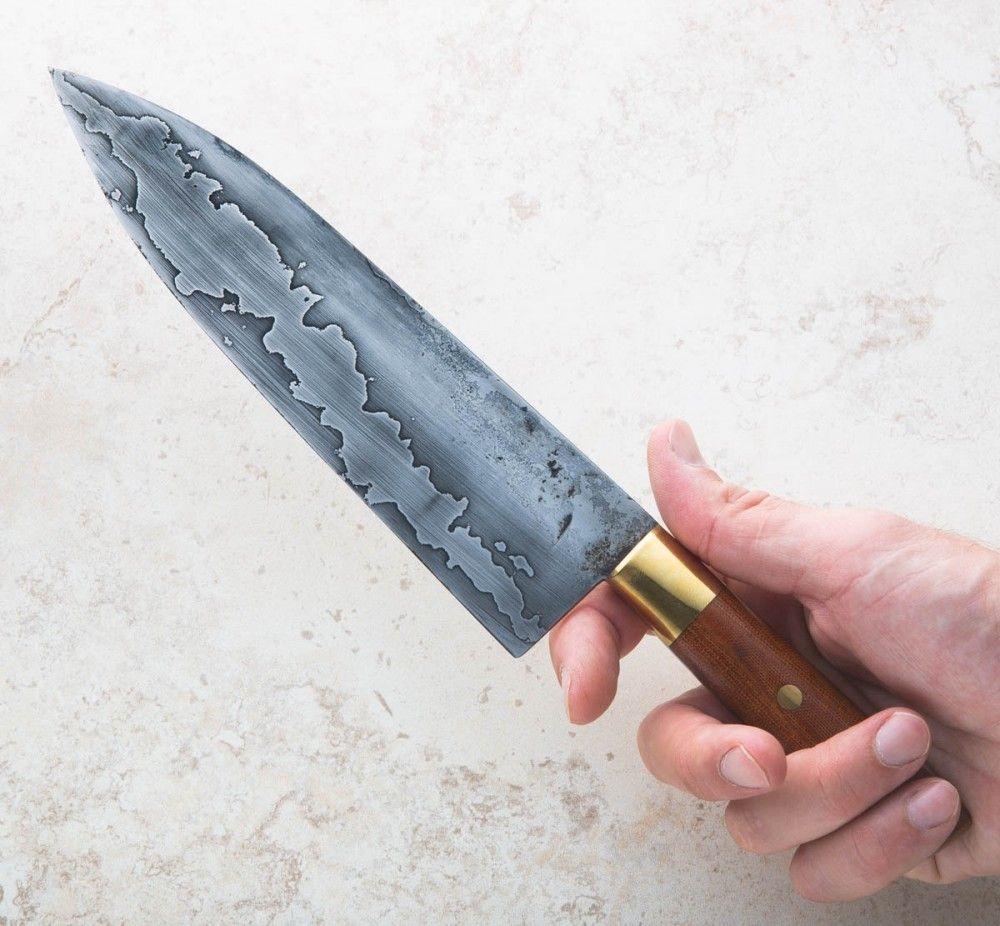 Brass u micarta chef mm knifemaking pinterest chef knife