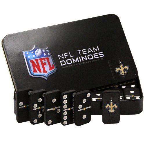 NFL New Orleans Saints Domino Set in Metal Gift Tin | Awesome ...