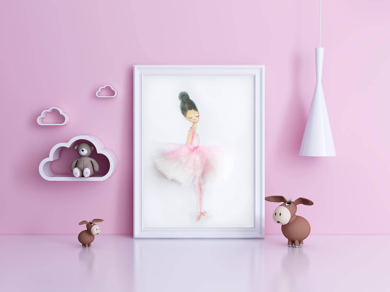 Ballerina Dancing S Room Decor Ballerinaballerina Name Print Dancer Personalized Kids