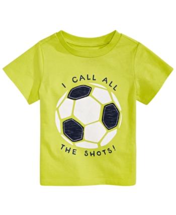 First Impressions Toddler Boys Soccer T Shirt Created For Macy S Green 3t Baby Boy Soccer Boys Nightwear Soccer Shirts Boys