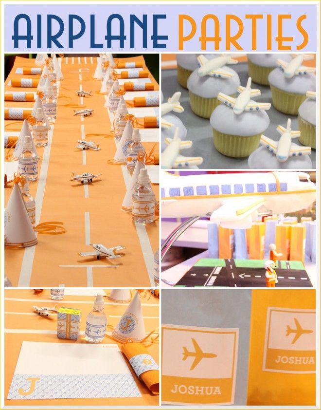 Airplane Birthday Party Inspiration Airplane party Aeroplanes and