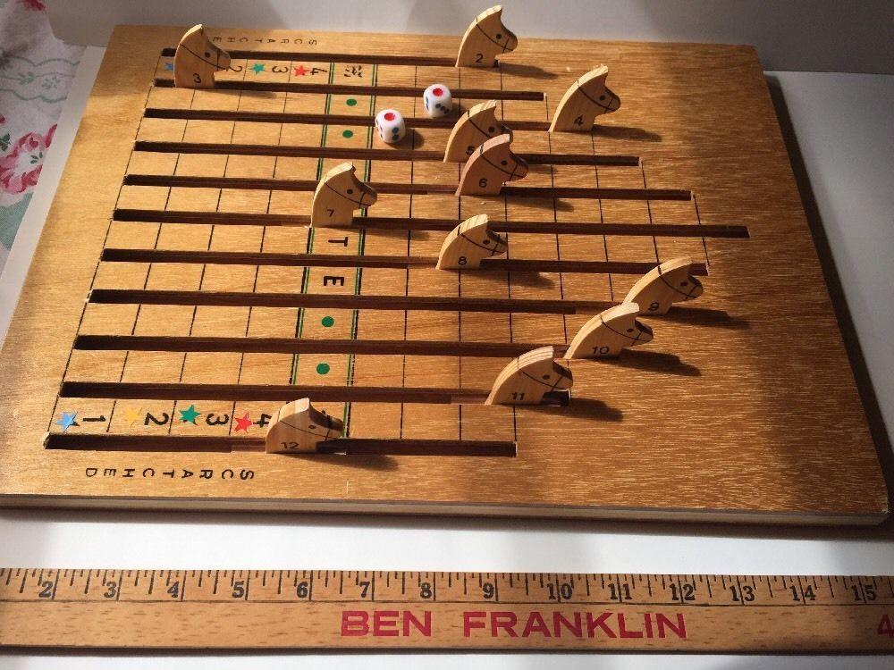 Horse race racing horse wood board game kentucky derby