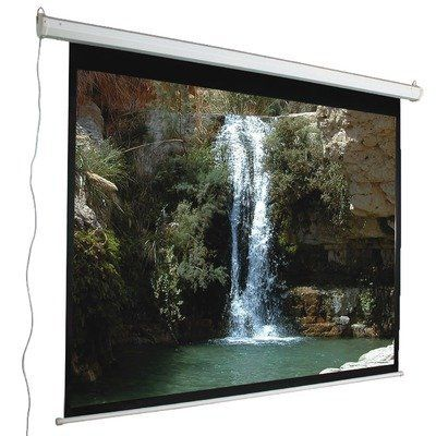 120 4 3 Aspect Ratio Electric Screen In Matte White By Mustang 703 99 Sc E120d43 Features Motorized Electric Screen Projection Screen Projection Screens
