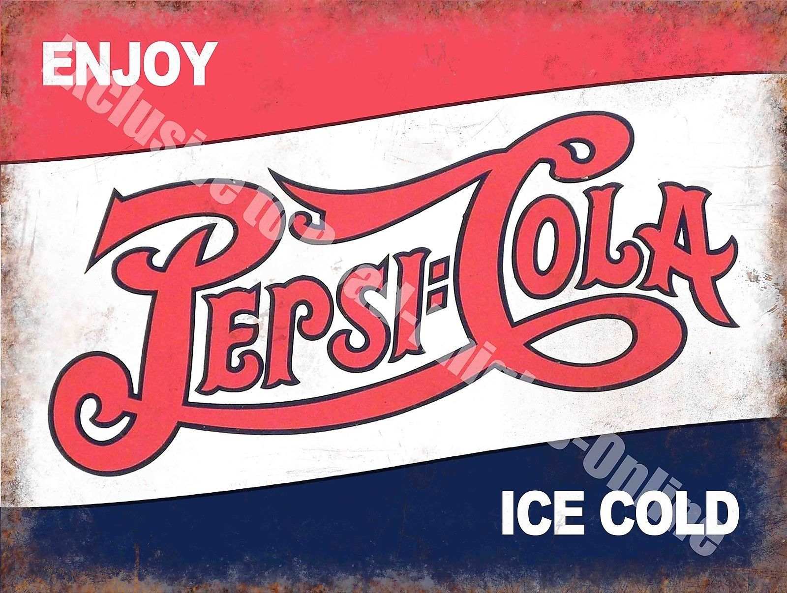 Pepsi Cola Classic Drink Advertising Cafe Diner Pub Bar Small Metal Tin Sign