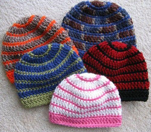 Better Late Than Never Beanies - Free Pattern (Crochet For Children ...