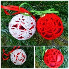 Haakpatroon Kerstbal Kerstballen Haken Gehaakte Kerstballen Kerst