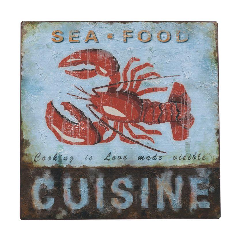 Comment ajouter une petite touche vintage et original sa - Plaque decorative pour cuisine ...
