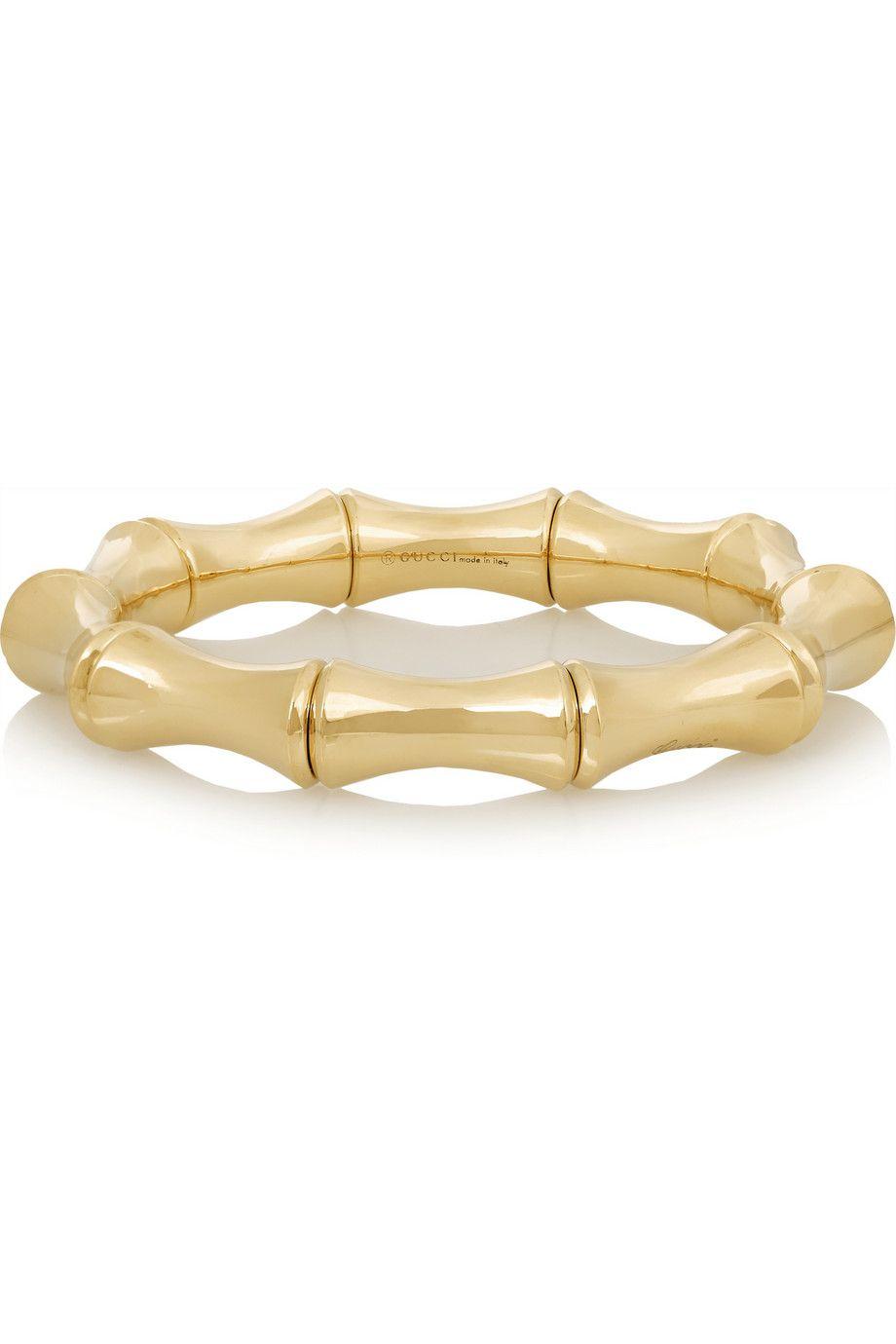 Gucci 18-karat Rose Gold Bamboo Bangle 6D35u84vT