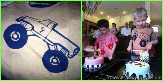 Monster Truck Birthday Homemade Shirts
