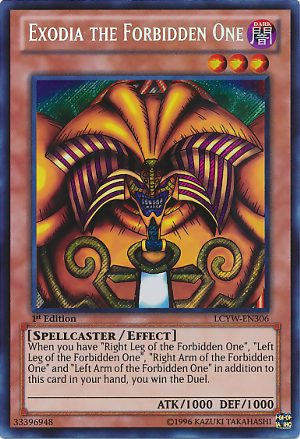 Exodia The Forbidden One Yugioh Cards Cool Pokemon Cards Monster Cards