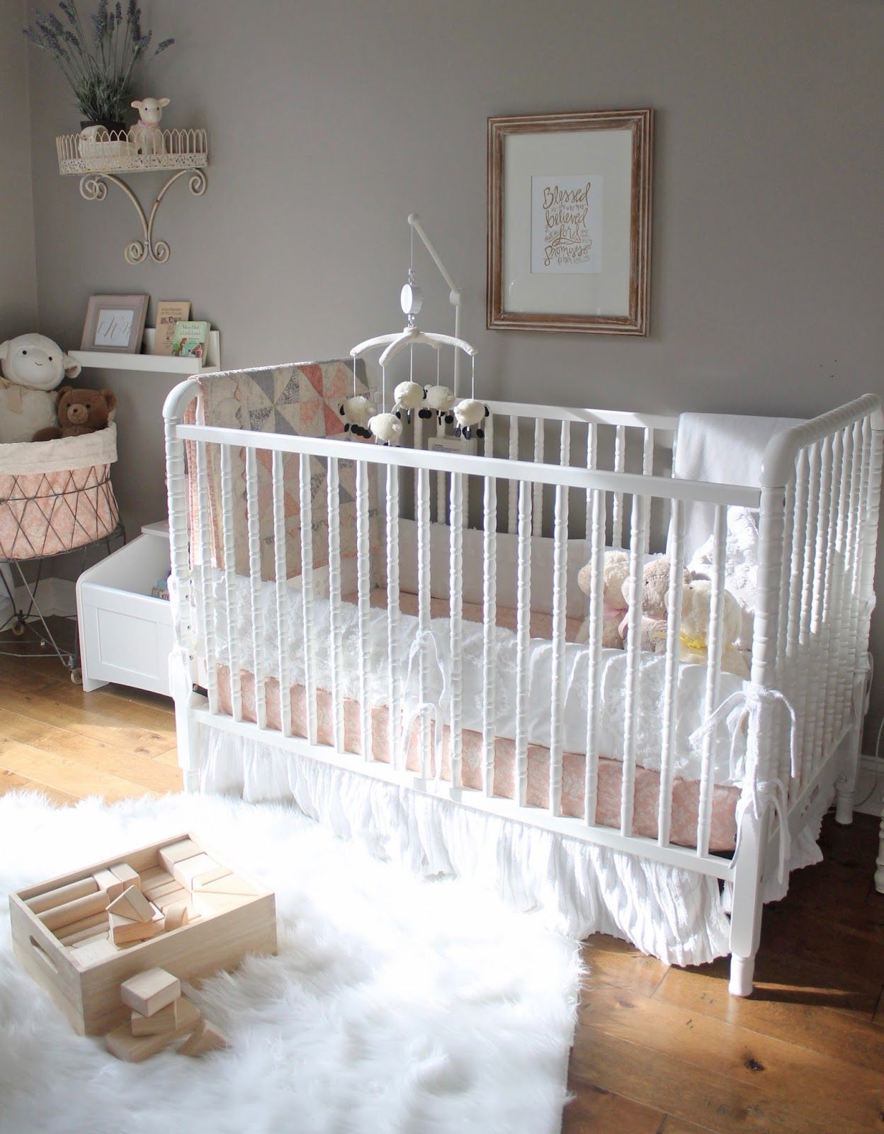 A Peaceful Pretty Lamb Themed Nursery Baby