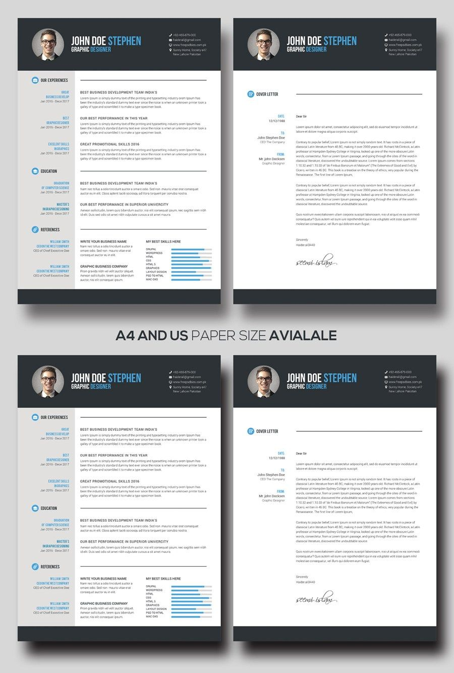 Free MsWord Resume And CV Template Cv Template Pinterest Cv - Ms word catalog template
